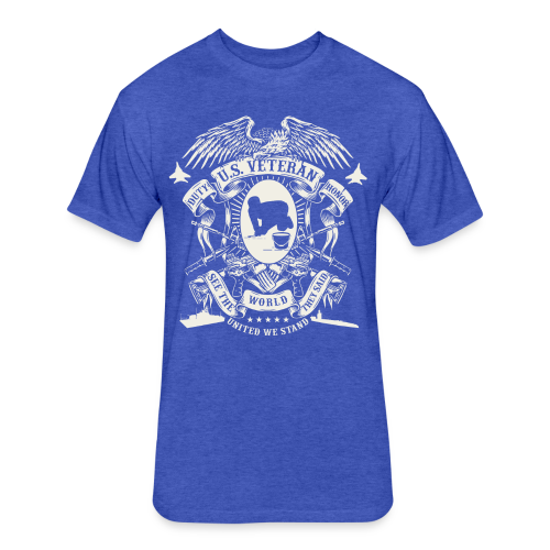 US Veteran - Fitted Cotton/Poly T-Shirt by Next Level