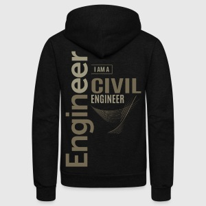 Civil Engineer - Unisex Fleece Zip Hoodie by American Apparel