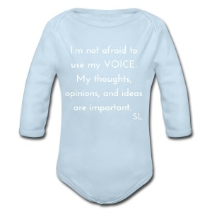 Empowering Black Woman Girl Quotes T shirt: Your Voice Matters! Shirt by Stephanie Lahart.  - Long Sleeve Baby Bodysuit