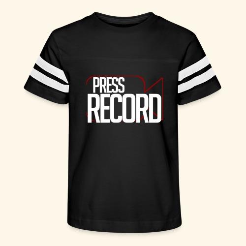 Press Record - Kid's Vintage Sport T-Shirt