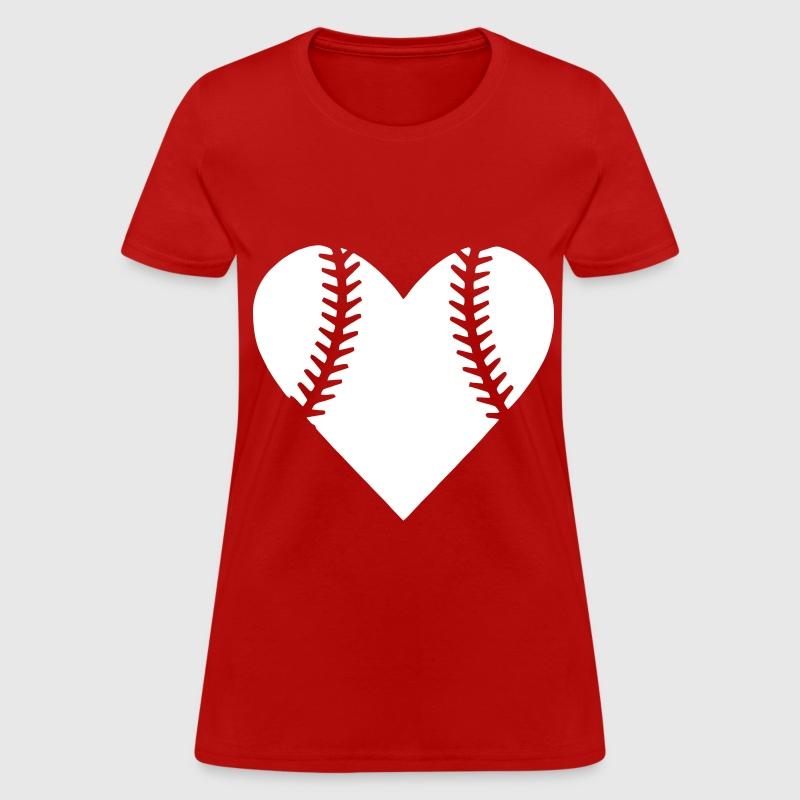 Heart Baseball T Shirt Spreadshirt
