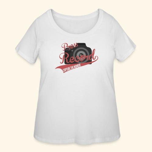 Press Record Baseball T - Women's Curvy T-Shirt