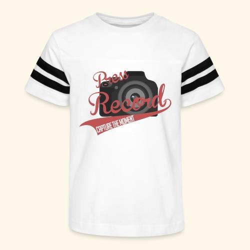 Press Record Baseball T - Kid's Vintage Sport T-Shirt