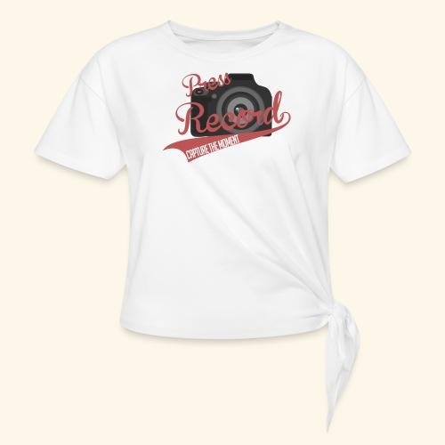 Press Record Baseball T - Women's Knotted T-Shirt