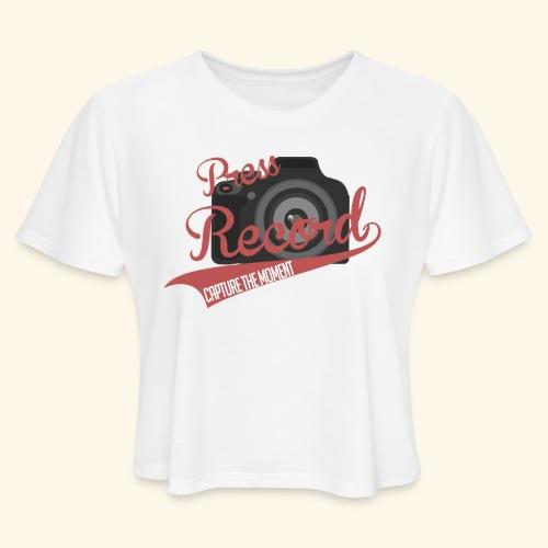 Press Record Baseball T - Women's Cropped T-Shirt