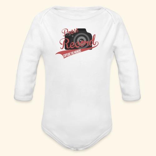 Press Record Baseball T - Organic Long Sleeve Baby Bodysuit