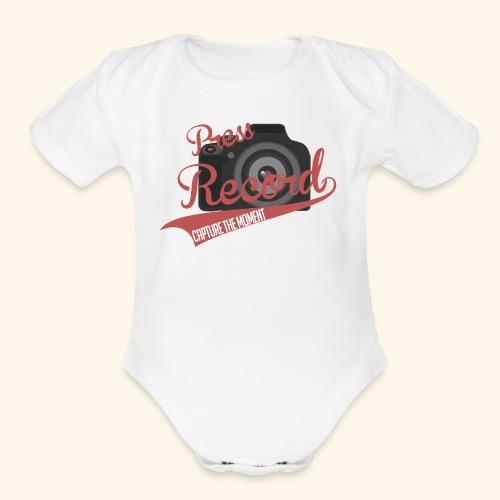 Press Record Baseball T - Organic Short Sleeve Baby Bodysuit