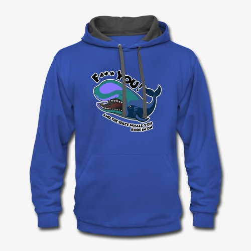 F*** YOU Space Whale - Contrast Hoodie