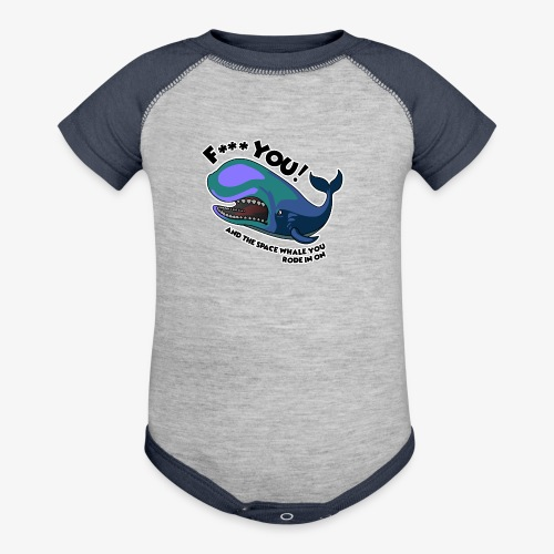 F*** YOU Space Whale - Contrast Baby Bodysuit
