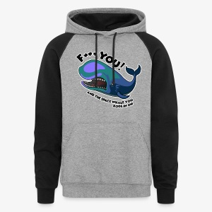 F*** YOU Space Whale - Colorblock Hoodie
