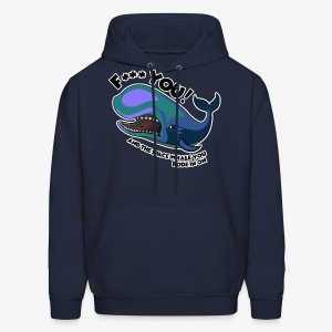 F*** YOU Space Whale - Men's Hoodie