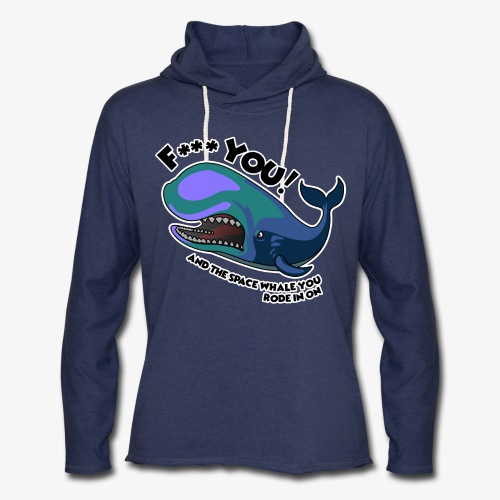 F*** YOU Space Whale - Unisex Lightweight Terry Hoodie