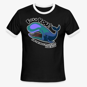 F*** YOU Space Whale - Men's Ringer T-Shirt