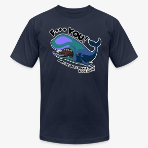 F*** YOU Space Whale - Men's Fine Jersey T-Shirt