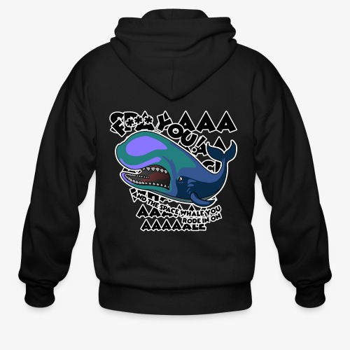 F*** YOU Space Whale - Men's Zip Hoodie