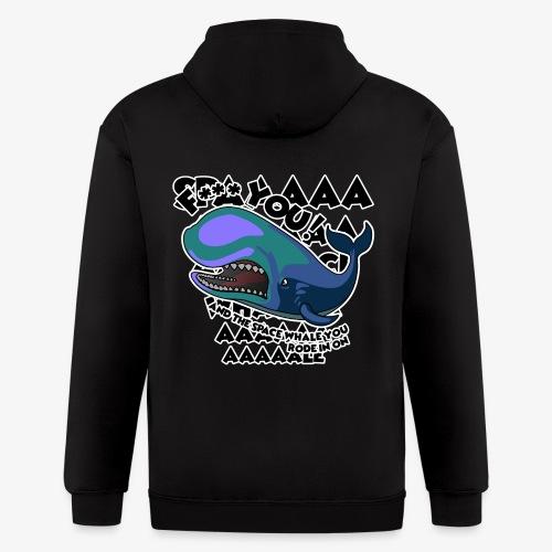 F*** YOU Space Whale - Men's Zip Hoodie
