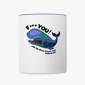 F*** YOU Space Whale - Contrast Coffee Mug