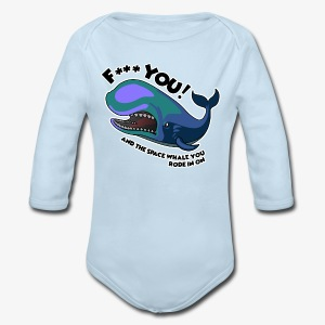 F*** YOU Space Whale - Long Sleeve Baby Bodysuit