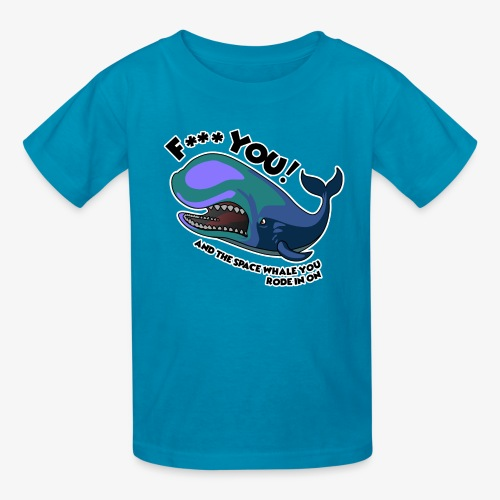F*** YOU Space Whale - Kids' T-Shirt