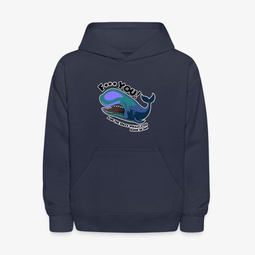 F*** YOU Space Whale - Kids' Hoodie