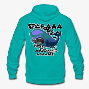 F*** YOU Space Whale - Unisex Fleece Zip Hoodie by American Apparel