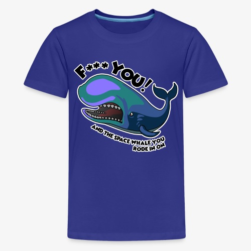 F*** YOU Space Whale - Kids' Premium T-Shirt