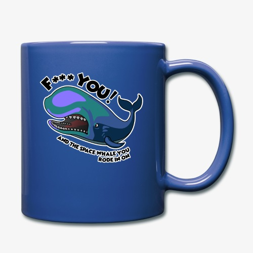 F*** YOU Space Whale - Full Color Mug