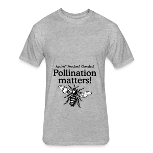 Pollination Matters Beekeeper Flowy Tank Top - Fitted Cotton/Poly T-Shirt by Next Level