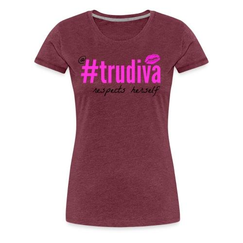 A TruDiva Respects Herself Boxy Tee - Women's Premium T-Shirt
