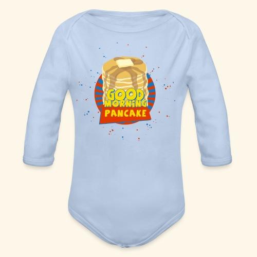 Goodmorning Pancake  - Organic Long Sleeve Baby Bodysuit