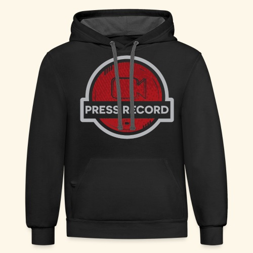 Press Record Button - Contrast Hoodie