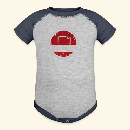 Press Record Button - Contrast Baby Bodysuit
