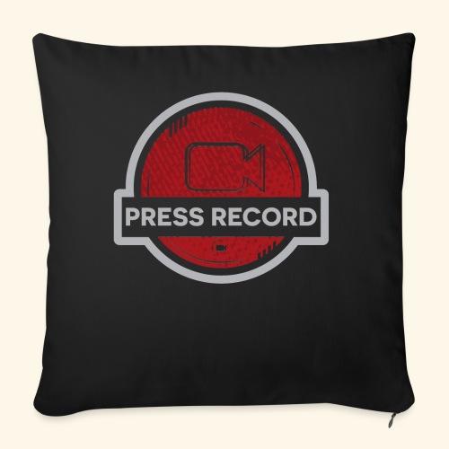 """Press Record Button - Throw Pillow Cover 18"""" x 18"""""""