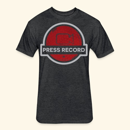 Press Record Button - Fitted Cotton/Poly T-Shirt by Next Level