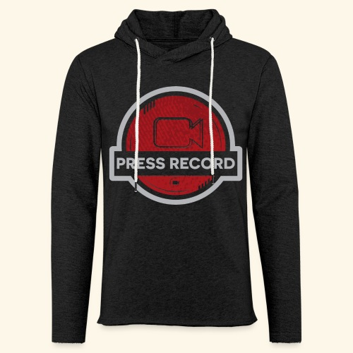 Press Record Button - Unisex Lightweight Terry Hoodie