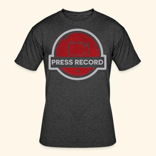Press Record Button - Men's 50/50 T-Shirt