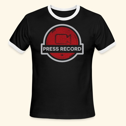 Press Record Button - Men's Ringer T-Shirt