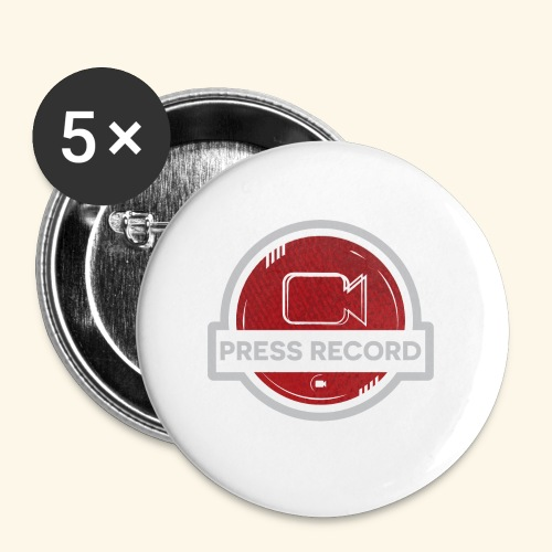 Press Record Button - Buttons large 2.2'' (5-pack)