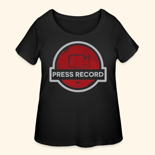 Press Record Button - Women's Curvy T-Shirt