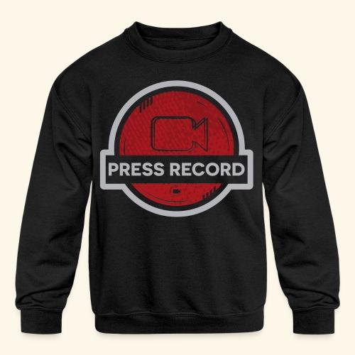 Press Record Button - Kids' Crewneck Sweatshirt