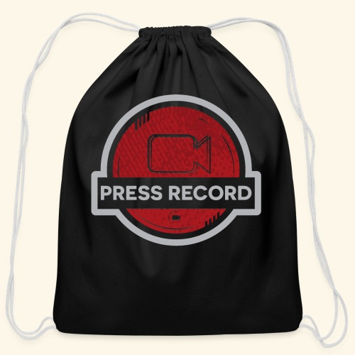 Press Record Button - Cotton Drawstring Bag