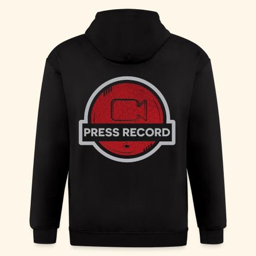 Press Record Button - Men's Zip Hoodie