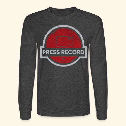 Press Record Button - Men's Long Sleeve T-Shirt