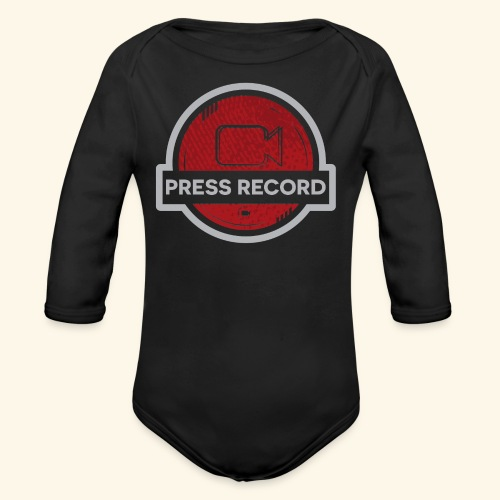 Press Record Button - Organic Long Sleeve Baby Bodysuit