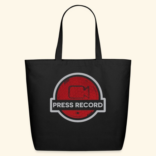 Press Record Button - Eco-Friendly Cotton Tote