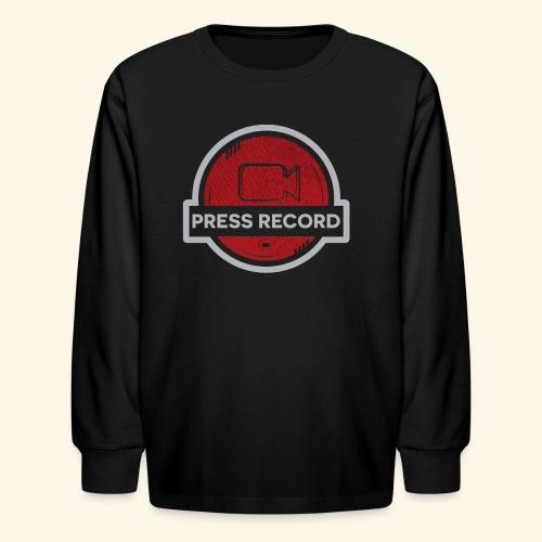 Press Record Button - Kids' Long Sleeve T-Shirt