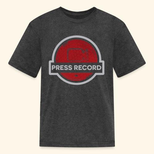 Press Record Button - Kids' T-Shirt