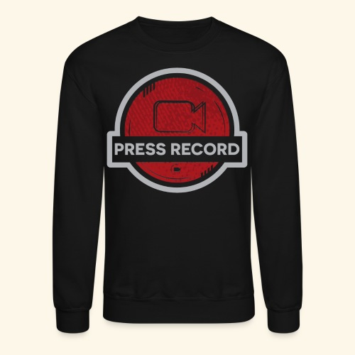 Press Record Button - Crewneck Sweatshirt