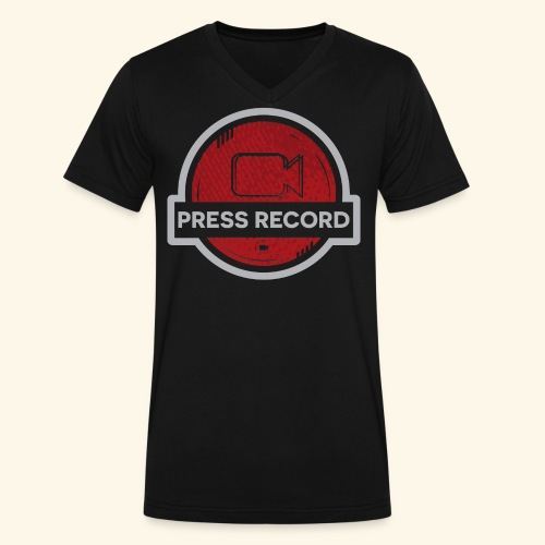 Press Record Button - Men's V-Neck T-Shirt by Canvas