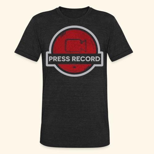 Press Record Button - Unisex Tri-Blend T-Shirt